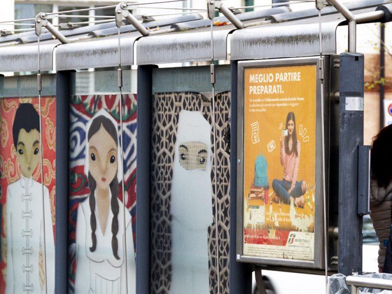 Bacheca 68x98 fermata Tram - Via Guizza - Padova